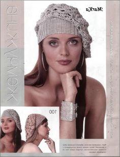 tığ işi şapka örneği