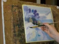 """wet watercolor """"Winter time"""" -  lulia Carchelan on YouTube"""