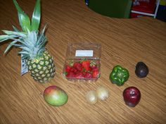 "Use fruit to teach poetry by ""appealing to the senses""."