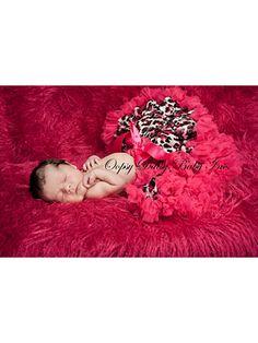 Raspberry Leopard Newborn Pettiskirt