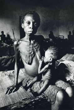 1968, A mother and child in Biafra
