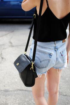 shoulder bags, black tank, total wear, simpl black