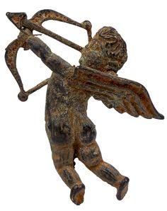 Ancient Roman. Bronze Cupid. Green patina. 100 AD - 200 AD