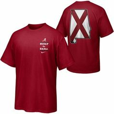 Nike Alabama Crimson Tide Built By Bama T-Shirt - Crimson