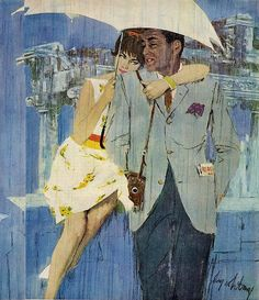 Under my umbrella.