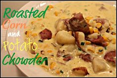 roasted corn and potato chowder (adapted from Cooking Light)
