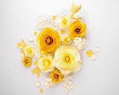 Gold Paper Flowers,