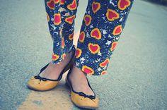 Heart print pants!