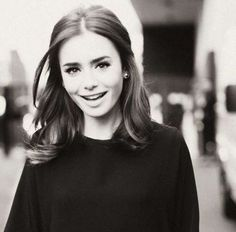 short hair, mid length, style, lily collins, hair makeup, beauti, hairstyl, lili collin, shoulder length hair