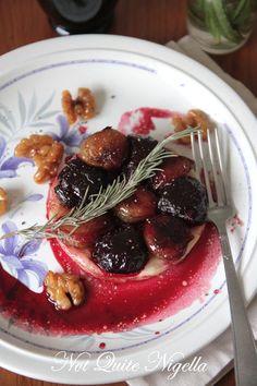 Beet and candies walnut tarte tatin-- yum.