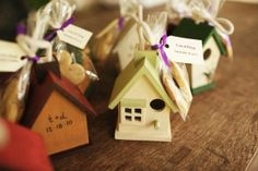 diy wedding favor birdhouse #diywedding