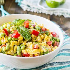 Roasted Corn and Edamame Salad.
