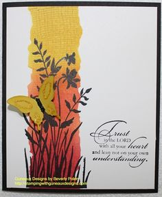 Blending Inks Technique - Stampin Up - Stamping With Guneaux Designs
