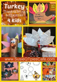Turkey Thanksgiving Activities for Kids