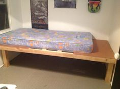 The beginning of our platform bed hubby's first biggish project