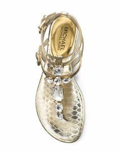 MICHAEL Michael Kors Jayden Sandal in Pale Gold