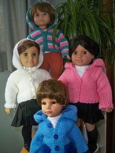 Ravelry: Hoodie for 18 inch American Girl and Gotz Dolls pattern by Janet Longaphie