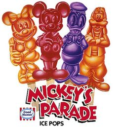 Mickey's Parade Ice Pops | 19 Cartoon-Themed Foods And Snacks From The '90s You Might Not Remember