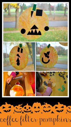 Coffee Filter Pumpkins