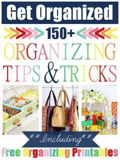 150+ Organizing Tips & Tricks!!!