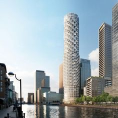 east london, architects, herzog, towers, layout, wood wharf, de meuron, residenti tower, landscape designs