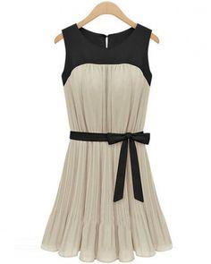 black + ivory bow dress