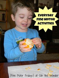 Everyday Fine Motor Activities - Stir the Wonder #kbn #finemotorfridays #finemotor