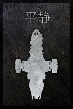 Serenity minimalist movie poster