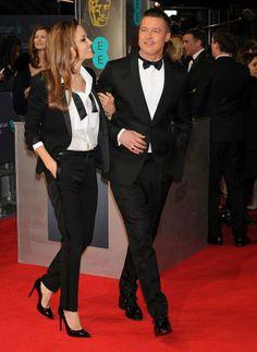 BAFTAs 2014: Angelina Jolie in Saint Laurent