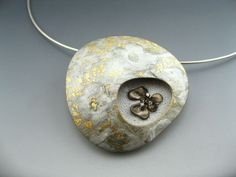 Contemporary polymer clay statement pendant by StonehouseStudio