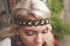 Pink Pewter Headband.want this!!