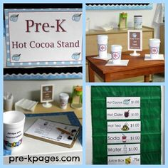 Dramatic Play Printable Hot Cocoa Stand for Winter via www.pre-kpages.com