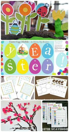FREE printables for Spring, Easter, St. Patrick's Day, Mother's Day & outdoor/nature exploration!