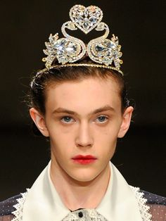 Look we love: Tiaras and hair jewels at Meadham Kirchoff