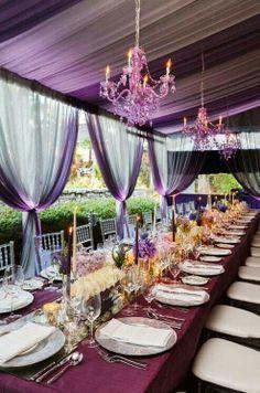 Purple wedding decor