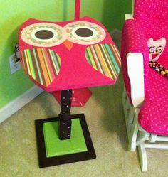 whimsical owl table
