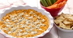All the flavors of Buffalo chicken wings in a warm dip recipe - great for holiday parties.
