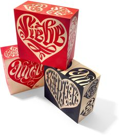 House Industries, Lettering, Love Blocks, Uncle Goose