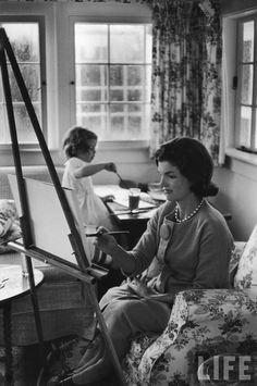 Lovely icon, peopl, carolin, alfred eisenstaedt, mother, daughters, paintings, jacki kennedi, camelot