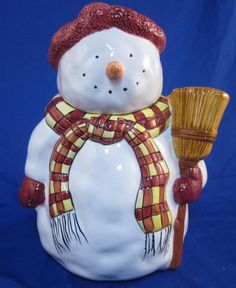 Debbie Mumm snowman cookie jar