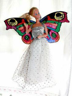 DIY Barbie fairy wings