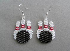 Beaded Bowling Earrings by DsBeadedCrochetedEtc on Etsy, $18.00