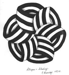 Playing with striping and shading. By Elizabeth Beveridge