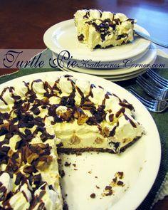 turtle pie recipe http://katherinescorner.com/2013/08/26/turtle-pie/
