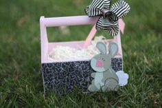 Mod Podge Wooden Easter Basket Idea