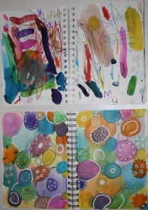 INCREDIBLE article of parent + child Art Journal Journey! Such a great idea!
