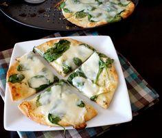 White Pita Pizza by iwashyoudry #Pizza #Pita #Fast #Easy