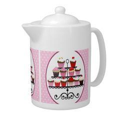 Valentines Day Cupcake Teapot