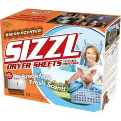 SIZZL Bacon-Scented Dryer Sheets Decoy Gift Box | Funny Bacon Holiday Wrapping | The Onion Store