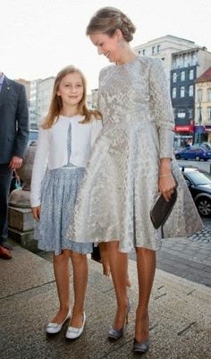 Queen Mathilde and Princess Elisabeth of Belgium visit the Genee International Ballet Competition at the Opera in Antwerp, Belgium, 27.09.2014.